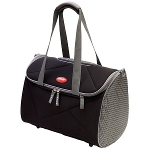 Dog Carrier by Teafco Pet Avion Airline Approved Pet Carrier with Shoulder Strap and Pockets, Black, Medium.