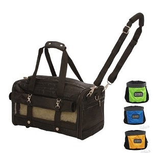 Sherpa Ultimate Large on Wheels Airline Approved Ped Dog Cat Carrier and Portable Travel Bowl included.
